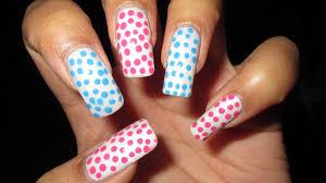 pink u0026 blue dots easter nail art tutorial nail art april 3