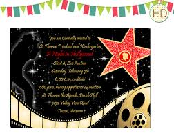 hollywood party invitations templates