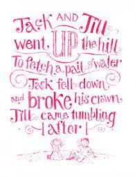 nursery rhymes by hand u2013 the illustrationist
