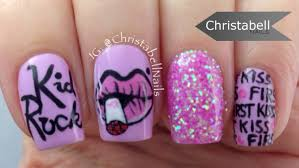 kid rock first kiss nail art tutorial youtube