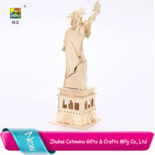 best selling the statue of liberty home decor products 3d wooden