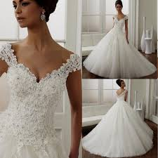 white lace ball gown wedding dress naf dresses
