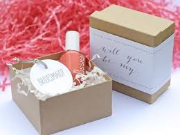 gifts to ask bridesmaids to be in wedding be my bridesmaid nail gift ask your bridesmaids with a