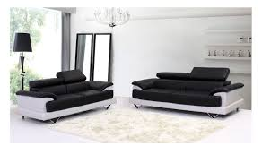 Cheap Leather Sofa Beds Uk by Cosmo Black And White Leather 3 And 2 Seater Leather Sofas