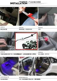 sound activated remote control 5050 rgb led interior footwell