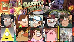 Gravity Falls Meme - top 10 gravity falls characters meme by ambergirl11 on deviantart