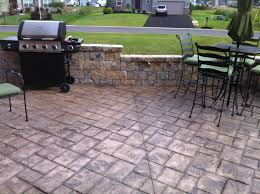 Backyard Stamped Concrete Ideas Backyards Impressive Large Size Concrete Patio Ideas Nz Modern