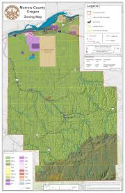 oregon county map land use zoning map morrow county oregon