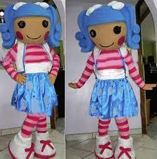 Lalaloopsy Halloween Costumes Lalaloopsy Blue Hair Mascot Costume Size Christmas