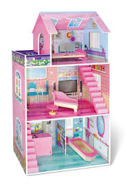 Barbie Dolls House Furniture Just Kidz Traditional Wooden Dollhouse