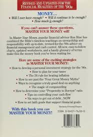 master your money a step by step plan for financial freedom ron
