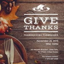 rustic thanksgiving fundraiser social media post templates by canva