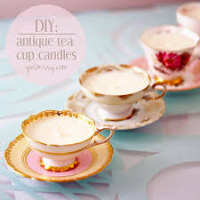 tea cup candles diy teacup candles antique tea cups soy wax flakes and teacup