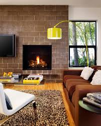 living room modern small living room with fireplace table lamp
