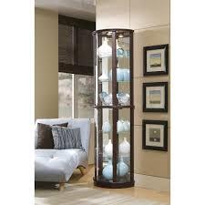 curio cabinet wooden curio cabinets cabinet oak wall display