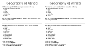 Blank Political Map Of South Africa by Standards Ss7g1 The Student Will Locate Selected Features Of