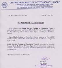 Authorization Letter Representative Sample Vrindavan Charitable And Educational Trust Authorization Letter