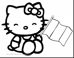 impressive hello kitty christmas coloring pages dokardokarz net