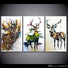 2017 elk graffiti deer animal wall art canvas pictures for living