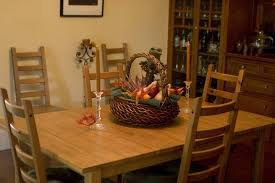 Enticing Dining Area Dark Brown Teak Wood Table Inside Farmhouse Dining Room Design