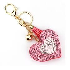 fashion key rings images Shuangr new fashion 9 colors key chain two color heart shape jpg