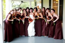 thinking red maroon gown u0027d bridesmaids