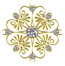 free illustration gold gem ornament flourish free image on
