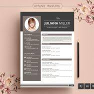 template cv word modern resume template 3 page cv template cover letter instant