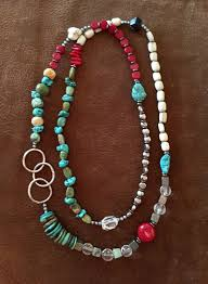 necklace natural stone images Multi beaded natural stone necklace silver n sage jpg
