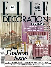 Home Decor Magazines South Africa by Elle Decoration South Africa August September 2014 Mediaslut