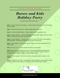 10 steps to planning a horse riding holiday party slo horse news