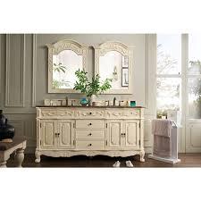 Vanity Set Furniture James Martin Furniture Classico Antique White 72 Inch Double