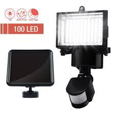 Outdoor V Lighting - lot 100 smd leds solar powered motion sensor security light flood