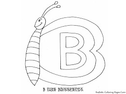 alphabet coloring pages b for butterfly coloring pages
