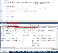 No Symbol Table Is Loaded Use The File Command Visualgdb Fixing Breakpoints In Native Android Code