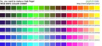 morris leffel web safe color chart