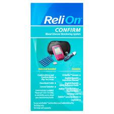 relion confirm blood glucose meter pink walmart com