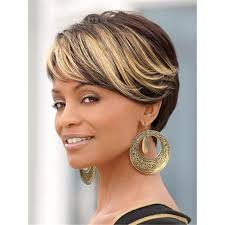 african american hairstyles color streaks ombre short wigs for black women black rooted side bangs blonde