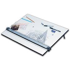 staedtler parallel straight edge drawing board 18 x 24 white by