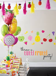 party supply and colorful tutti frutti birthday party project nursery