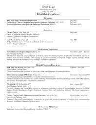 Occupational Therapy Resume Examples by Valuable Slp Resume Examples 3 Best Speech Language Pathologist