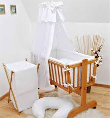 Swinging Crib Bedding 7 Crib Baby Bedding Set 90x40 Canopy Fits Rocking Swinging