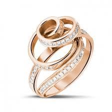 rings diamond design images Red gold diamond engagement rings 0 85 carat diamond baunat jpg