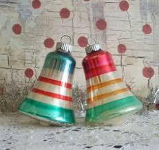 Glass Bell Christmas Ornaments - vintage glass christmas ornaments shiny brite teardrops 16 95