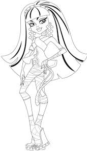 104 best monster high coloring pages images on pinterest monster
