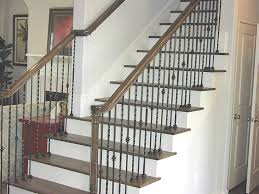 Wrought Iron Railings Interior Stairs Stair Wonderful Interior Stair Decoration Using Rustic Walnut