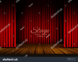 Theater Drape Open Red Curtains Stage Theater Opera Stock Vector 644541574