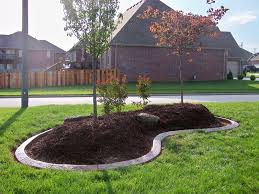 landscaping around trees concrete border applications for