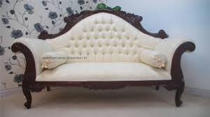 victorian chaise lounge sofa antique replica charles louis cuddler sofa chaise in mahogany with