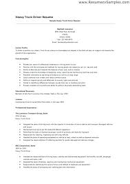 Resume Template For Driver Position Trucking Resume Sample Truck Driver Bus Driver Resume Sample More